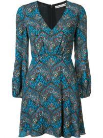 Alice Olivia Gothic Print Flared Dress at Farfetch