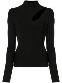Alice Olivia Sophie Cutout Turtleneck Sweater - Farfetch at Farfetch
