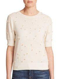 Alice and Olivia - Abi Embellished Wool Sweater at Saks Fifth Avenue