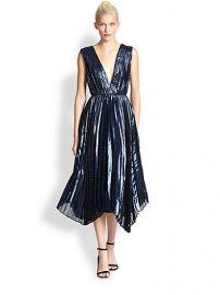 Alice and Olivia - Alessandra Pleated Lamand233 Dress at Saks Fifth Avenue