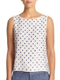 Alice and Olivia - Ama Paillette andamp Bead-Embellished Top at Saks Fifth Avenue