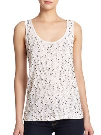 Alice and Olivia - Dali Embellished Linen Tank Top at Saks Fifth Avenue