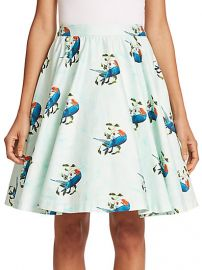Alice and Olivia - Earla Pleated Flared Skirt at Saks Fifth Avenue