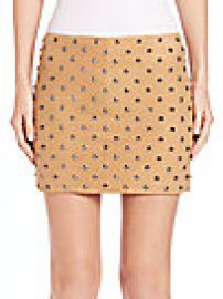 Alice and Olivia - Elana Studded Suede Skirt at Saks Fifth Avenue