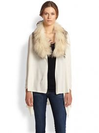 Alice and Olivia - Izzy Fur-Collar Cascade Cardigan at Saks Fifth Avenue