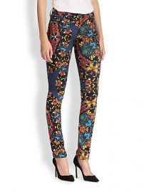 Alice and Olivia - Jewel-Print Skinny Jeans at Saks Fifth Avenue