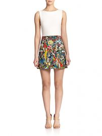 Alice and Olivia - Molly Printed A-Line Dress at Saks Fifth Avenue