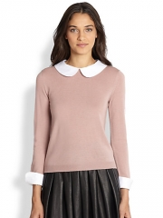 Alice and Olivia - Porla Convertible Stretch-Wool Sweater at Saks Fifth Avenue
