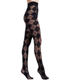 Alice and Olivia Argyle Semisheer Tights by Pretty Polly at Neiman Marcus