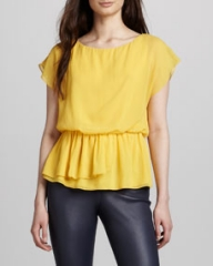 Alice and Olivia Becker Drape-Waist Top at Neiman Marcus