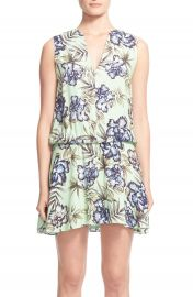 Alice and Olivia Brook Sleeveless BlousonFloral Print Dress at Nordstrom