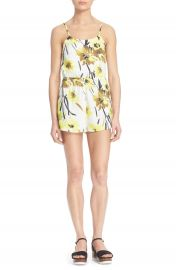 Alice and Olivia Cassia Floral Print Romper at Nordstrom