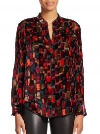 Alice and Olivia Eloise Printed Blouse at Saks Fifth Avenue