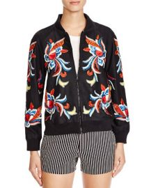 Alice and Olivia Felisa Embellished Silk Jacket at Bloomingdales