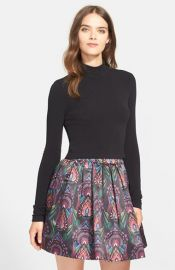 Alice and Olivia Garrison Mock Turtleneck at Nordstrom
