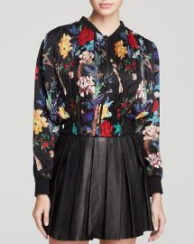 Alice and Olivia Jacket - Drapey Gathered Crop at Bloomingdales