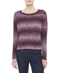 Alice and Olivia Kerri Shimmery Striped Sweater at Neiman Marcus