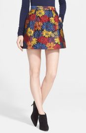 Alice and Olivia Loran Miniskirt in Black multi at Nordstrom