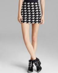 Alice and Olivia Mini Skirt - Elana Houndstooth at Bloomingdales