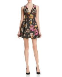 Alice and Olivia Mollie Box Pleat Floral Brocade Dress at Bloomingdales
