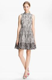 Alice and Olivia Paisley Print Flared Dress at Nordstrom