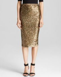 Alice and Olivia Pencil Skirt - Bryce Sequin at Bloomingdales