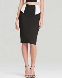 Alice and Olivia Pencil Skirt - High Waist Color Block at Bloomingdales