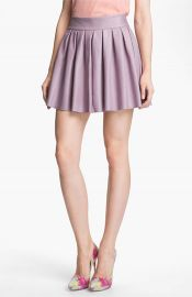 Alice and Olivia Pleated Leather Skirt at Nordstrom