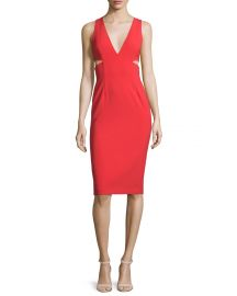 Alice and Olivia Riki Dress in red at Neiman Marcus