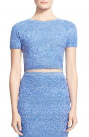 Alice and Olivia Solange Merino Wool Knit CropTop at Nordstrom