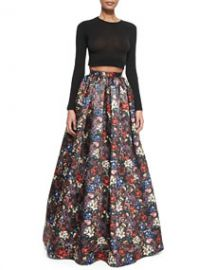 Alice and Olivia Tina Floral-Print Ball Skirt at Neiman Marcus