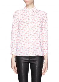 Alice and Olivia Willa Flamingo Print Shirt at Lane Crawford