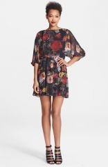 Alice and Olivia and39Andieand39 Floral Print Blouson Dress at Nordstrom