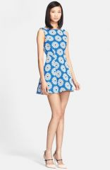 Alice and Olivia and39Epsteinand39 Floral Woven Flared Dress at Nordstrom