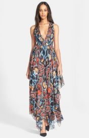 Alice and Olivia and39Koraand39 Print Handkerchief Dress at Nordstrom