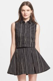 Alice and Olivia and39Leaand39 Stripe Crop Top at Nordstrom