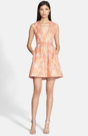 Alice and Olivia and39Paceyand39 Deep-V Neck Lantern Dress at Nordstrom