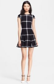 Alice and Olivia and39Selmaand39 Check Flounce Hem Dress at Nordstrom