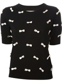 Aliceandolivia Bow Detail Shortsleeved Sweater - Jeurissen at Farfetch