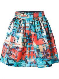 Aliceandolivia Venetian Print Skirt - Al Ostoura at Farfetch