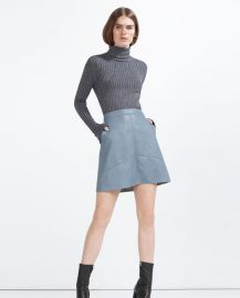 Aline Leather Skirt at Zara