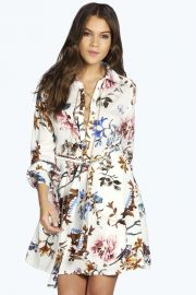 Alisia floral shirtdress at Boohoo