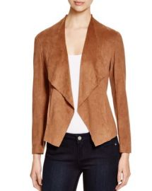 Alison Andrews Draped Faux Suede Jacket - Essential Pick at Bloomingdales