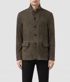 All Saints Felton Suede Blazer at All Saints