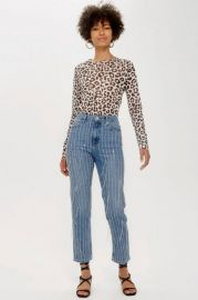All Over Diamante Straight Leg Jeans at Topshop