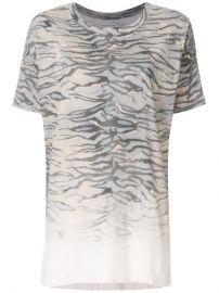 All Saints Tiger Stripes Print Loose Fit T-shirt at Farfetch