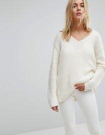AllSaints Ade Oversized V-Neck Sweater at Asos