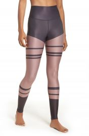 Alo Airbrush High Waist Leggings Anthracite at Nordstrom