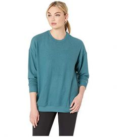 Alo Yoga Soho Pullover in Seagrass Heather at Zappos