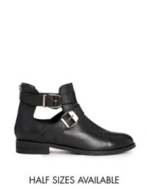 Along Side Me Leather Ankle Boots at Asos